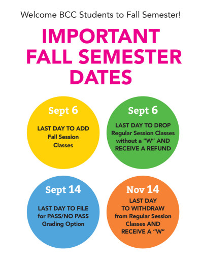 Fall 2015 Important Dates