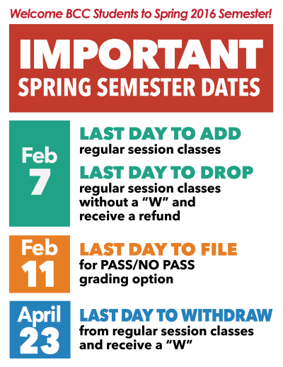 Spring 2016 Important Dates