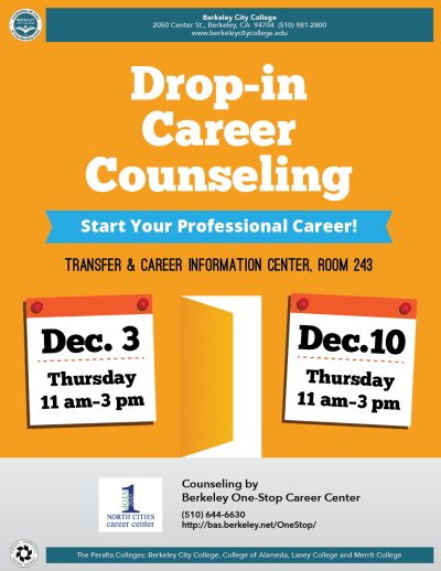Drop-in Career Counseling Flyer